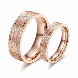 fashion wedding rings for women and men stainless steel With rose gold wedding rings for men