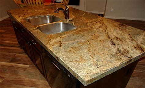 lapidus granite with mitered edge kitchens