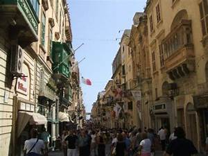 Main Street in Valletta (capital city) - Picture of ...