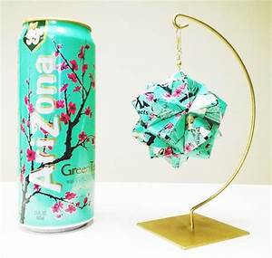 Origami, Art, Reinterpreted, With, Upcycled, Aluminium, Cans