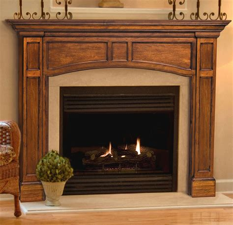 Foyer Bois by Pearl Mantels Vance Fireplace Mantel Surround