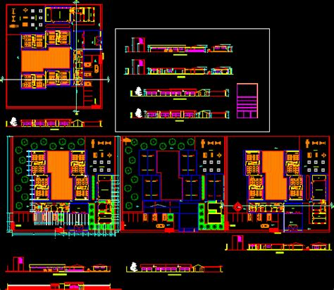project kinder dwg full project  autocad designs cad
