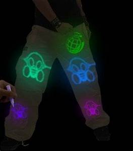 6 Pack of Glow in the Dark Fabric Paint Tubes Buy line