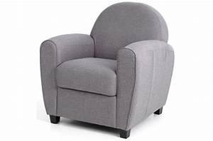 Fauteuil Club Tissu : fauteuil club tissu gris clair patricia design sur sofactory ~ Teatrodelosmanantiales.com Idées de Décoration