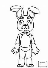 Freddy Fnaf Golden Drawing Coloring Pages Nights Five Getdrawings sketch template
