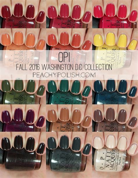 opi fall  washington dc collection swatches