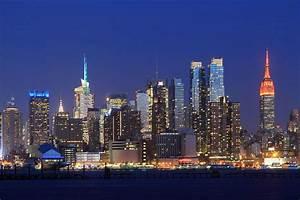 Manhattan Skyline At Night Photograph by John Lan