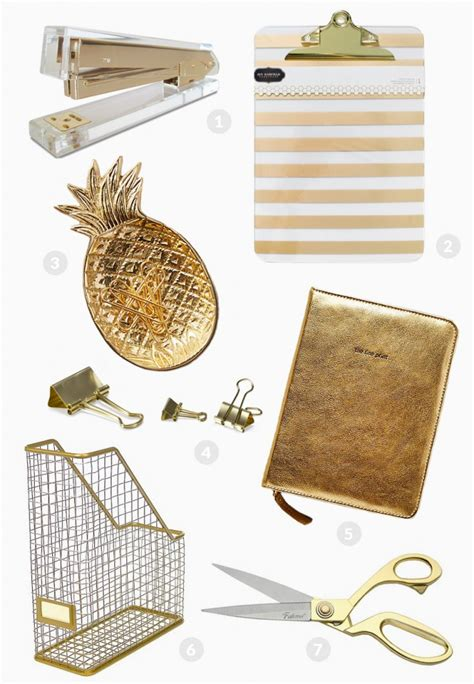 gold desk accessories currently loving gold office supplies a sip of bliss
