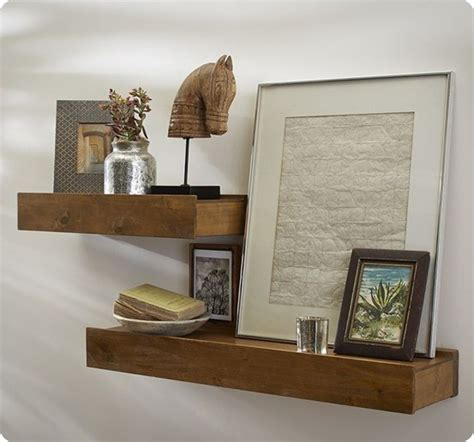 pottery barn decorative wall shelves rustic wood floating shelf ikea hack