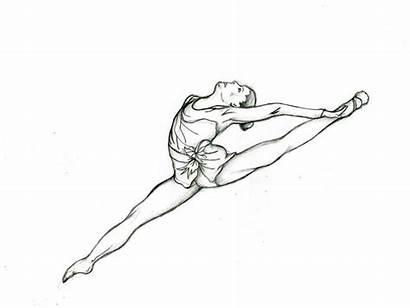 Gymnastics Coloring Pages Gymnast Easy Printable Drawing