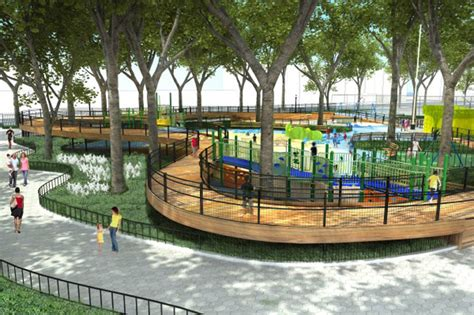 rockwell group designs  treehouse esque playground