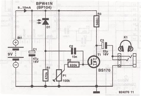 Headphones Infrared Receiver Circuit
