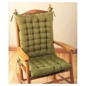 rocker chair cushions kitchen rocking seat tie back replacement indoor porch pad