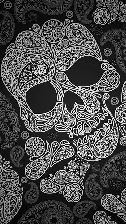 Skull Iphone Phone Screen Hat Background Outline