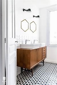 Carreaux De Ciment Adhesif Sol : tendance sol salle de bain carreaux de ciment frenchyfancy ~ Premium-room.com Idées de Décoration