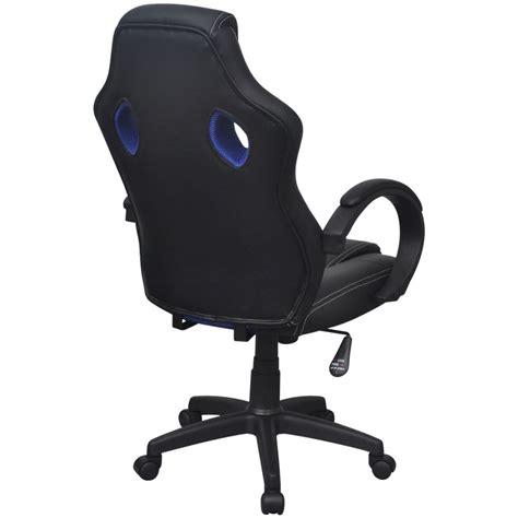 chaise de bureau en solde acheter vidaxl chaise de bureau en cuir artificiel bleu