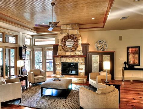 Tray Ceiling Ideas Living Room by Tray Ceiling And Fireplace For Modern Living Room