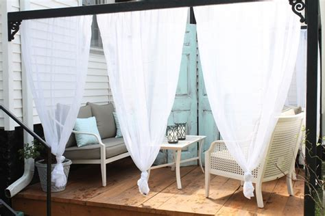 diy outdoor cabana with curtains house