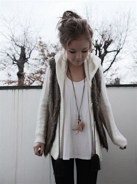 winter hair style clothes fashion jewelry style 4511