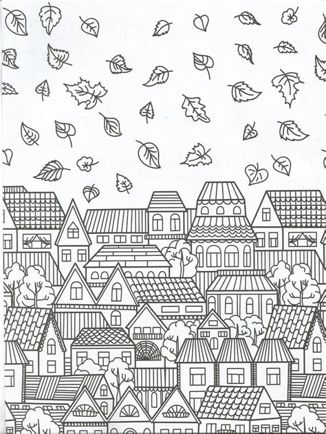 744 best adult colouring buildings houses cityscapes