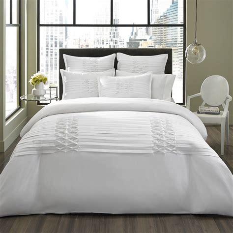 beautiful luxurious elegant white textured comforter set