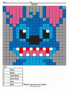 Disney Addition And Subtraction Coloring Squared