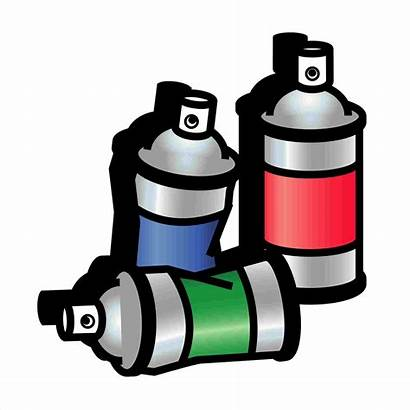 Spray Paint Clipart Cans Svg Spraycans Drawing