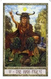 the hierophant from the druid craft tarot tarot major arcana crafts the high