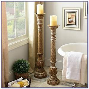 Table top chandelier candle holder tabletop home for Best brand of paint for kitchen cabinets with column candle holders