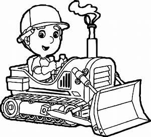 Manny Bulldozer Coloring Page | Wecoloringpage.com