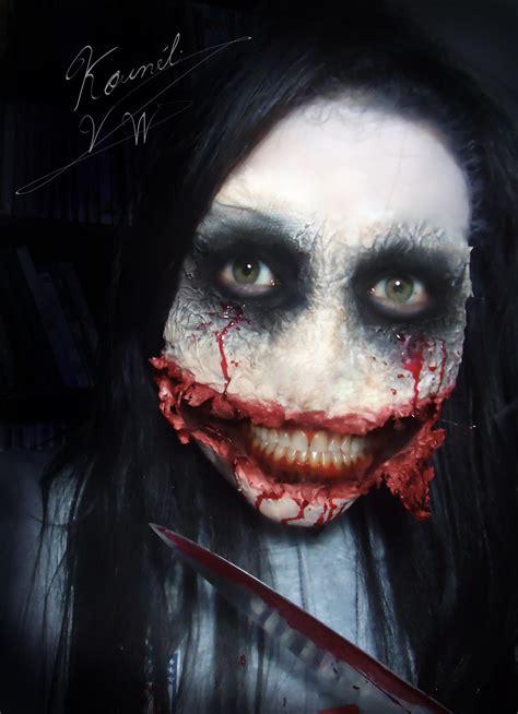 killer jeff face cosplay meme halloween creepy know zombie