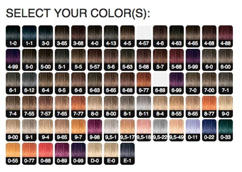 schwarzkopf hair color chart schwarzkopf igora royal permanent color creme 12 1