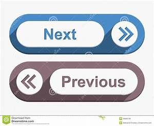 Next And Previous Buttons Stock Vector Image Of Next