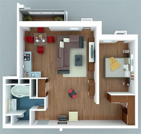 appartement 3 chambres plan 3d appartement 1 chambre 09