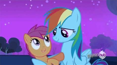 scootaloo hugs rainbow dash youtube