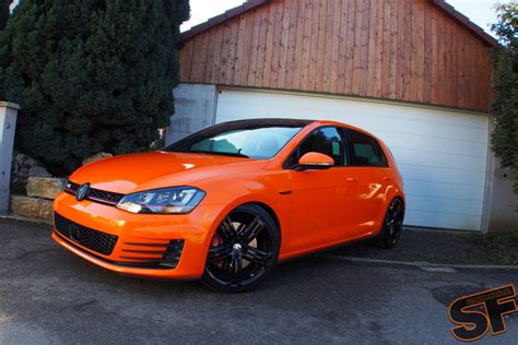 orange volkswagen gti vw golf 7 gti gets toxic orange wrap autoevolution