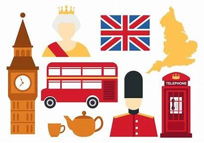 England Icons Vector Clipart Elizabeth London English
