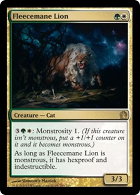 cat deck mtg commander fleecemane theros gatherer magic the gathering