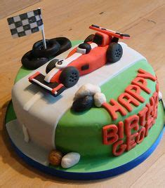 race car race track checkered flag cake cakes ive