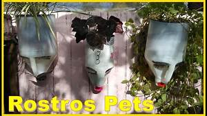 Como Hacer Macetas En Forma De Rostro Con Botellas Pets