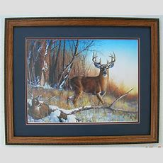 Resting Place Big Buck Jim Hansel Framed Country Pictures