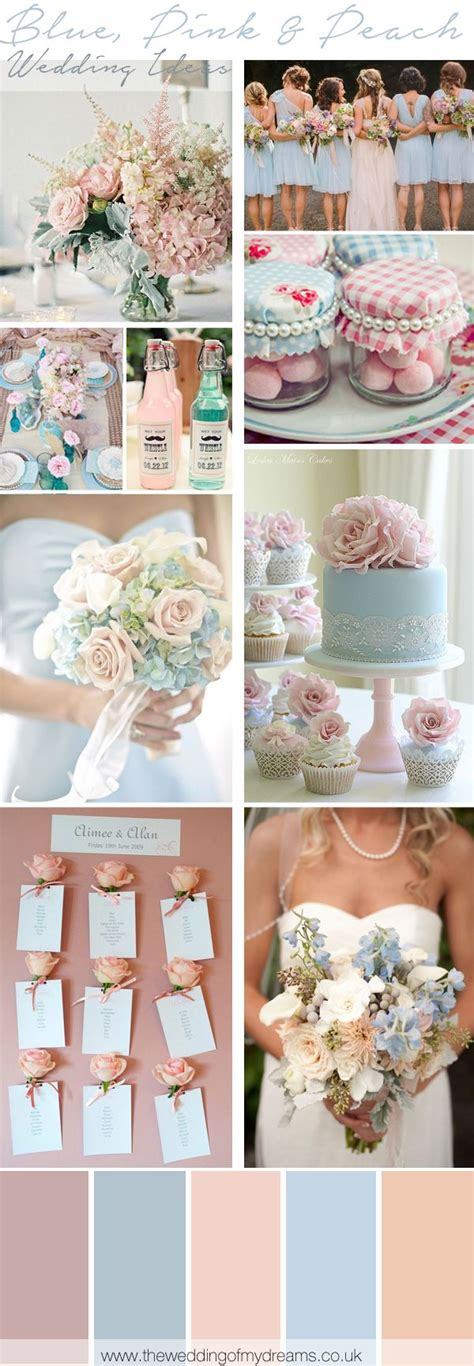blue pink and peach wedding inspiration ideas north