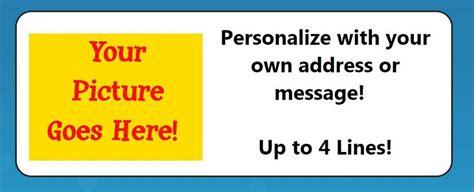 personalized create   return address labels ebay