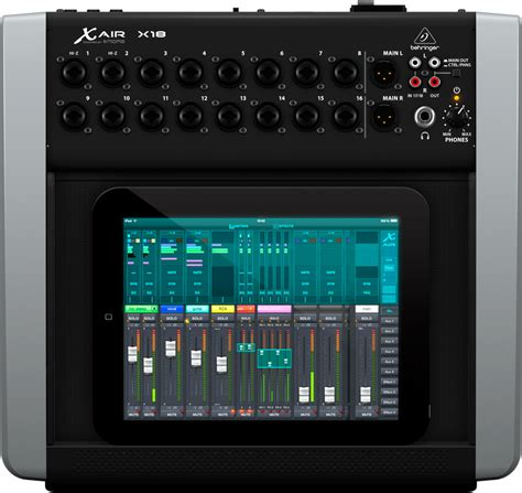 mixer for android behringer x18 x air 18 channel 12 digital mixer for