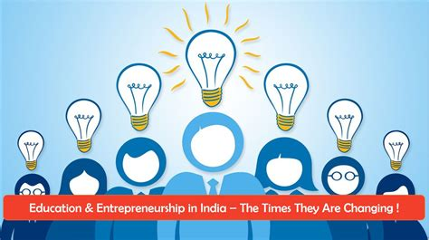 entrepreneurship education  india  times