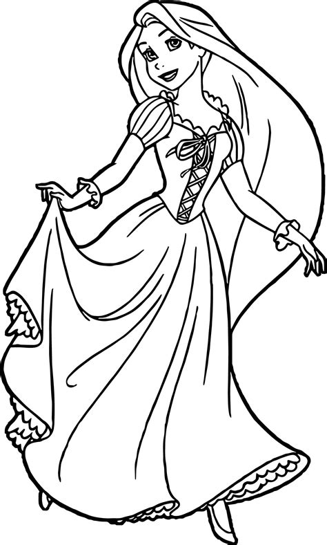 rapunzel coloring pages rapunzel and flynn ready coloring page wecoloringpage