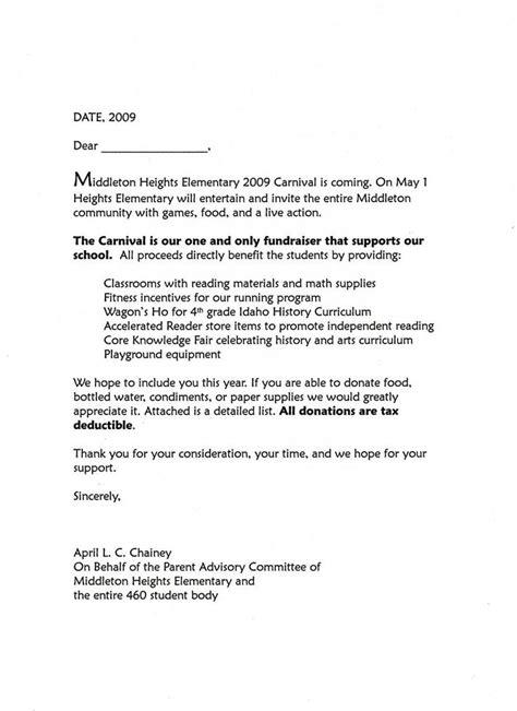 carnival donation request letter  create pinterest