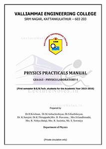 Lab Manuals For Physics