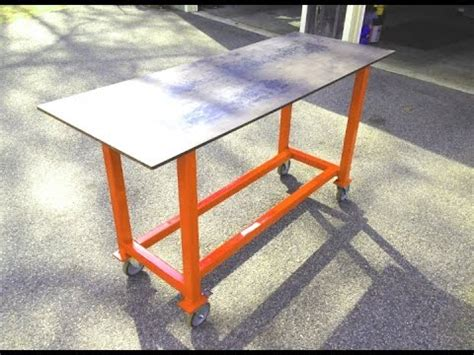 How To Build A Basic Welding Table From Scrap Youtube