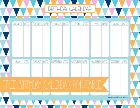 birthday calendar creative  parties